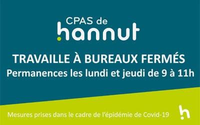 COVID-19 – CPAS de Hannut uniquement sur RDV